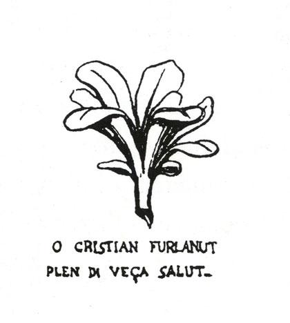 Motto Academiuta di lenga furlana (disegno di Federico De Rocco)