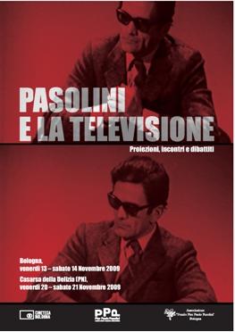 """Manifesto """"Pasolini e la televisione"""". Convegno di a Casarsa"""