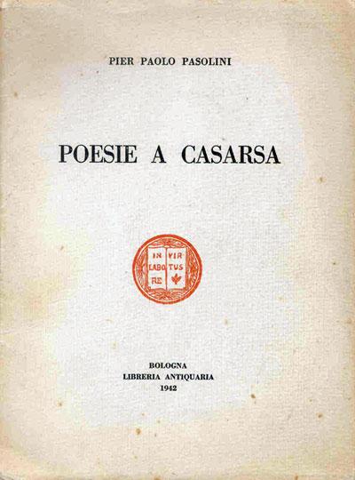 "Copertina del libro ""Poesie a Casarsa"""