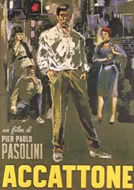 """Manifesto di Sandro Symeoni per """"Accattone"""" (1961)"""