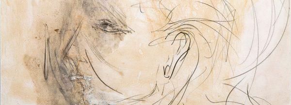 Profilo di Maria Callas. Disegno di Pasolini