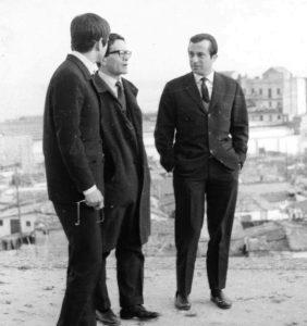 Pier Paolo Pasolini con il poeta spagnolo José Augustín Goytisolo
