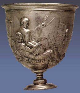Arte romana. Coppa Warren, 50 d.C., argento, British Museum. Proveniente da Bittir (Bethther), presso Gerusalemme