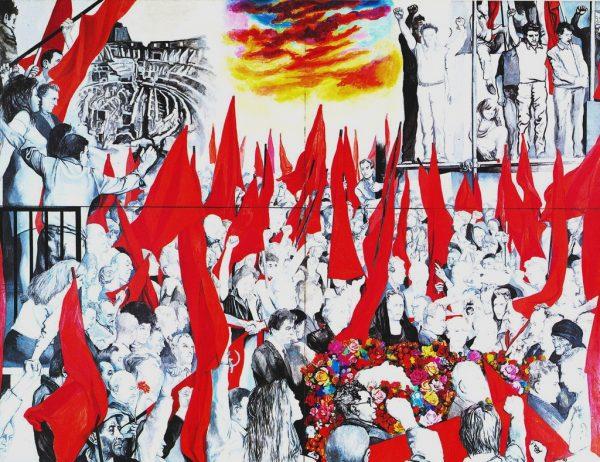 """""""I funerali di Togliatti"""". Guttuso, 1972"""