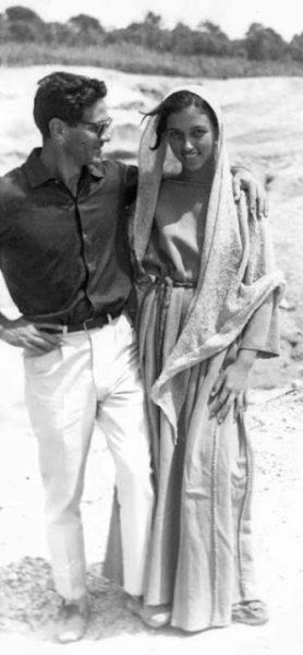 """Pasolini e Margherita Caruso sul set del """"Vangelo"""""""