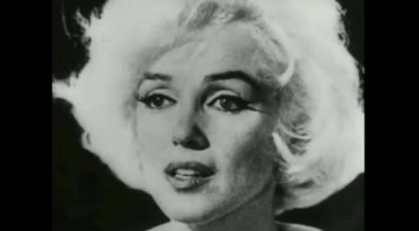 """Marilyn Monroe. Fotogramma da """"La rabbia"""" di Pasolini (1962-1963)"""