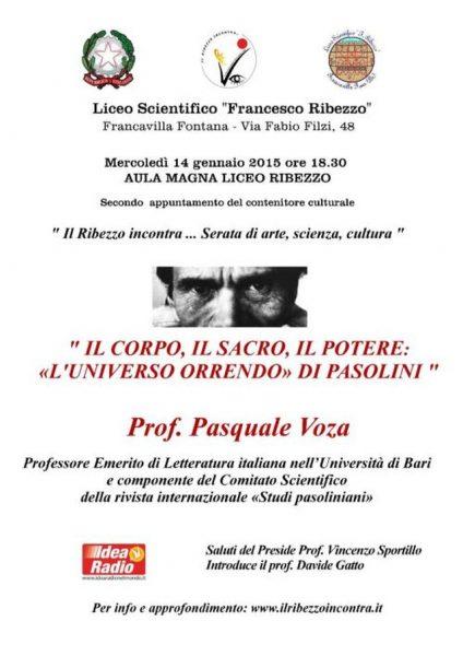 Conferenza Pasquale Voza. Manifesto