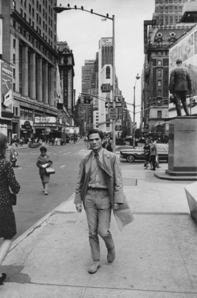Pasolini a New York (1966). Foto di Dick Avedon