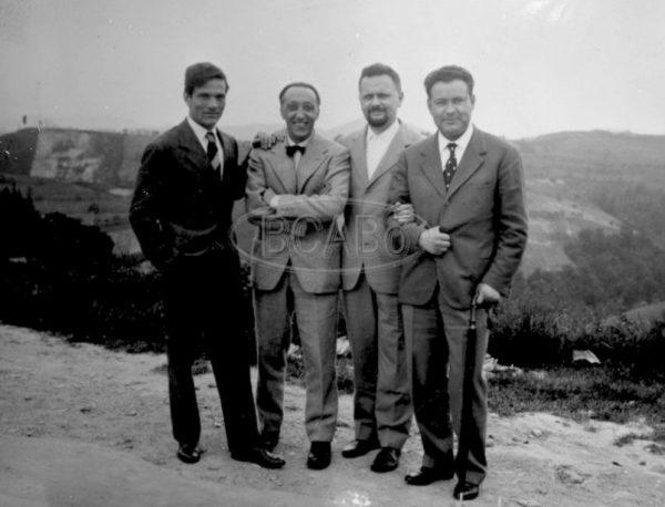Pasolini,Francesco Leonetti, Roberto Roversi e PaoloVolponi,  9 giugno 1957 (Bologna)