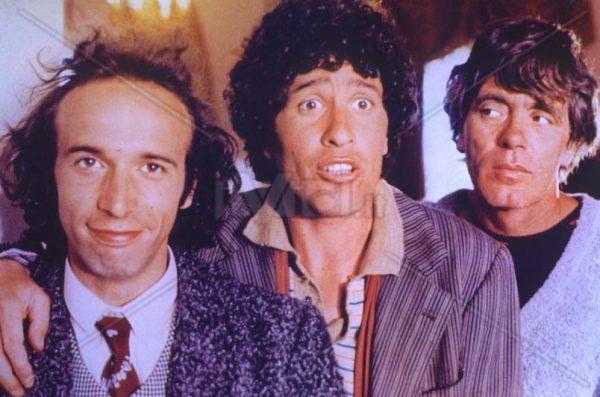 """Una scena da """"Il minestrone"""". Da sx. Roberto Benigni, Ninetto Davoli, Franco Citti"""