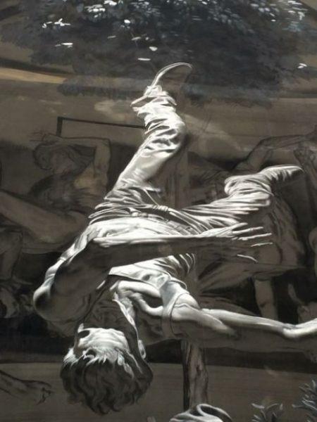 Murale per Pasolini di Nicola Verlato. Dettaglio