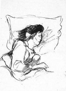 Pier Paolo Pasolini, Donna che dorme, 1942