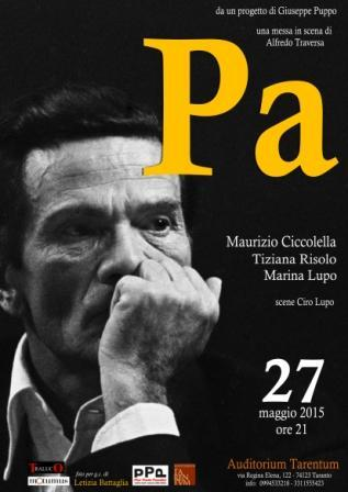 """Pa"" di Alfredo Traversa. Locandina"