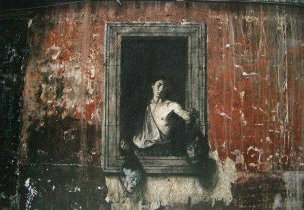 Murale per Pasolini a Napoli. Opera di Ernest Pignon-Ernest