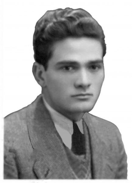 Un'immagine giovanile di Pasolini