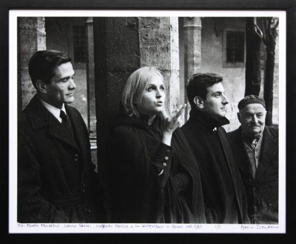 Pasolini, Laura betti e Goffredo Parise a Roma (1962). Foto di Mario Dondero