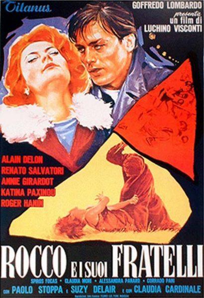 """""""Rocco e i suoi fratelli"""" (1968) di Luchino Visconti. Manifesto"""