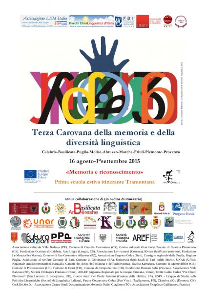 III Carovana della memoria e della diversità linguistica. Manifesto