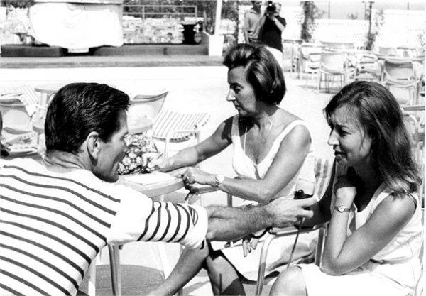 """""""Comizi d'amore"""". Da sx, Pasolini, Camilla Cederna,Oriana Fallaci"""
