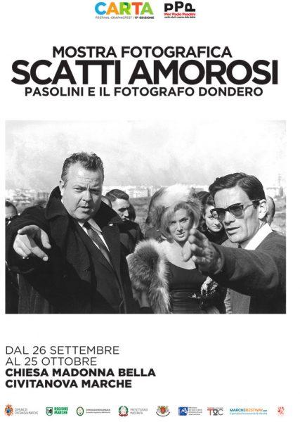 """""""Scatti amorosi"""" di Mario Dondero a Civitanova Marche. Manifesto"""