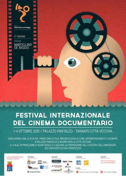 """""""Festival Internazionale del Cinema Documentario"""" a Taranto, 2015. Manifesto"""