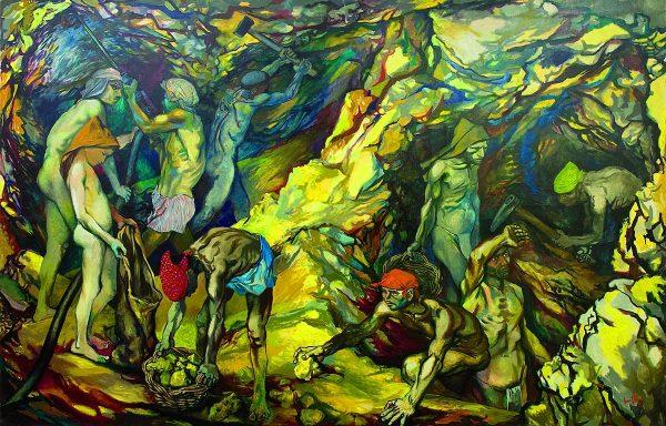 """La zolfara"" (1953) di Renato Guttuso"