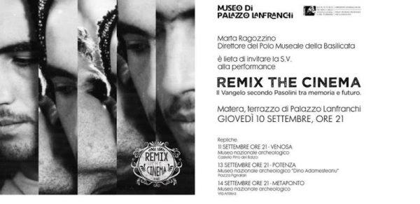 """""""Remix the cinema"""". Matera"""