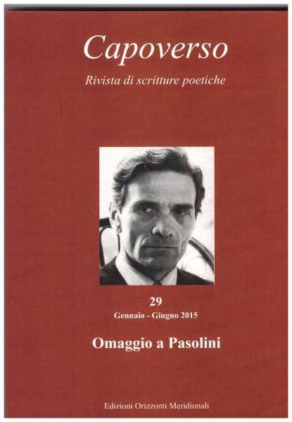 """""""Capoverso"""". Speciale Pasolini 2015"""