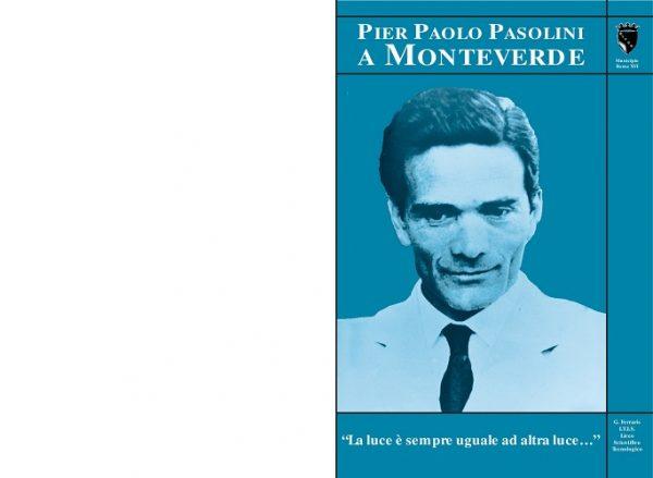 """""""Pier Paolo Pasolini a Monteverde"""". Copertina"""