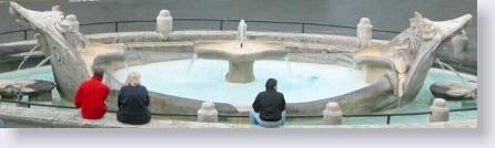 Roma. La Barcaccia a Piazza di Spagna