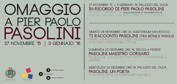 In ricordo di Pasolini a Senigallia. Programma