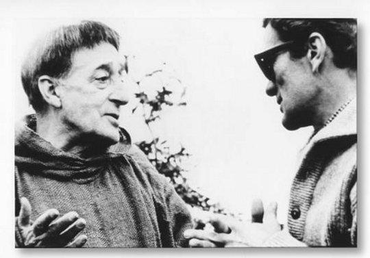 """Totò e Pasolini sul set di """"Uccellacci e uccellini"""""""