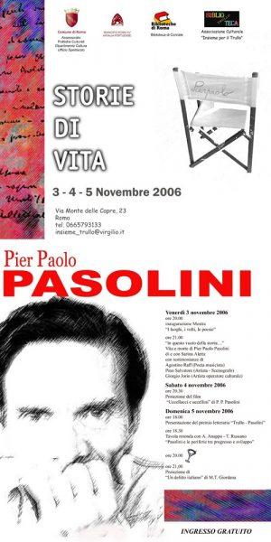 """""""Il Trullo e Pasolini"""". Locandina"""