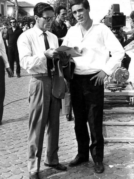 """Pasolini e Franco Citti sul set di """"Accattone"""" (1961)"""