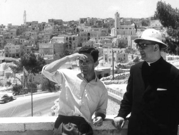 Pasolini e don Andrea Carraro in Palestina