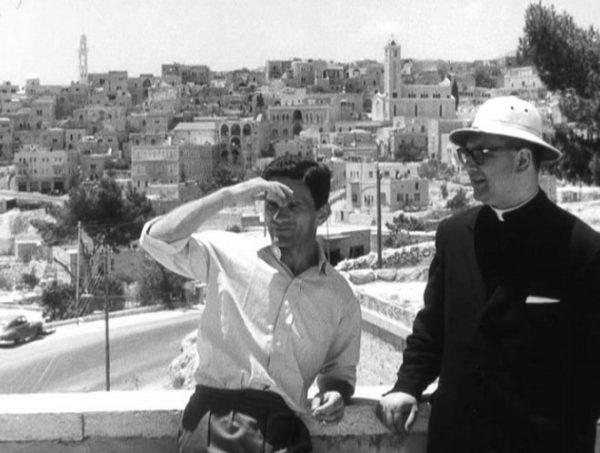 Pasolini e don Andrea Carraro in Palestina