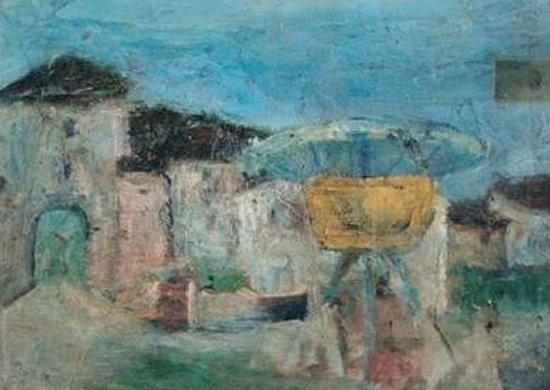 Il Castello di Valvasone. Dipinto di Pasolini (1941)