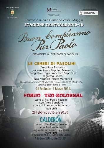 """""""Buon compleanno Pier Paolo"""". Locandina"""