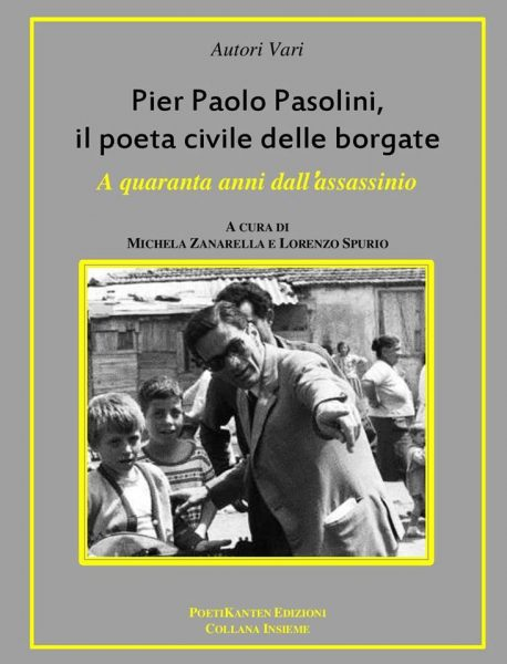 """""""Pasolini poeta civile delle borgate"""". Copertina"""
