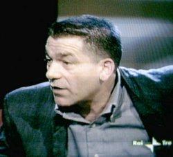 Pino Pelosi durante la trasmissione di Franca Leosini