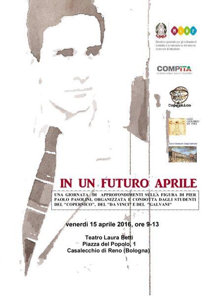 """""""In un futuro aprile"""". Convegno. Locandina"""