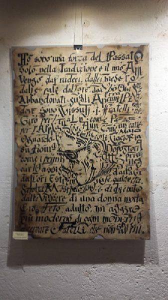 """Matera. Una tavola della mostra """"Pasolini: un volto icona"""""""