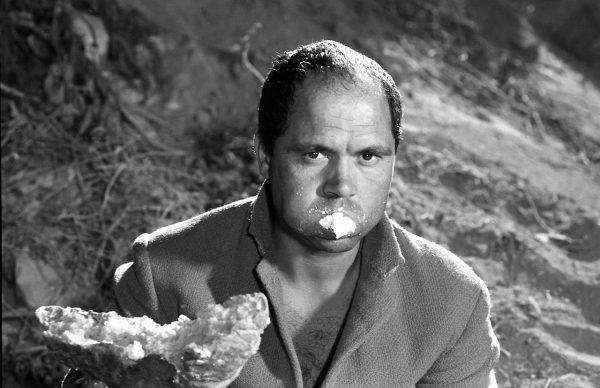 """Mario Cipriani in """"La ricotta"""" (1963) di Pasolini"""