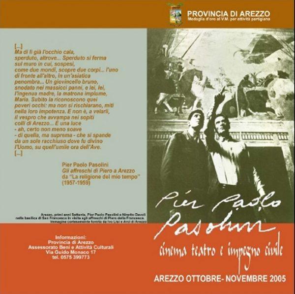 Il programma per Pasolini di Arezzo. Pieghevole