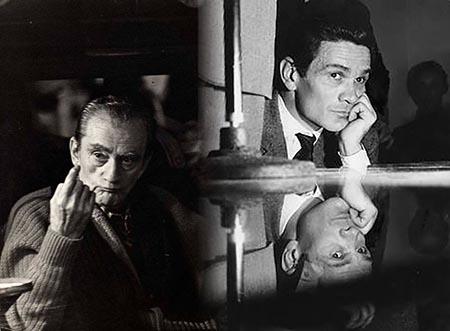 Luchino Visconti e Pier Paolo Pasolini