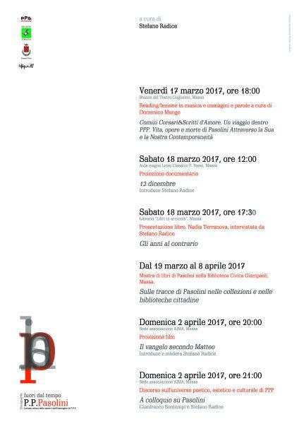 """""""Uno sguardo fuori dal tempo"""" a Massa Carrara. Programma"""