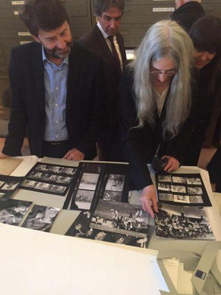 Il ministro  Dario Franceschini e Patti Smith a Parma (maggio 2017)