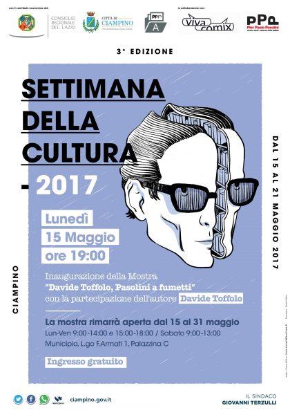 """Mostra  a Ciampino """"Davide Toffolo. Pasolini a fumetti"""". Manifesto"""