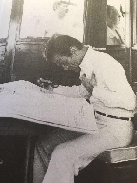 """Pier Paolo Pasolini a bordo dell'""""Edipo Re"""""""