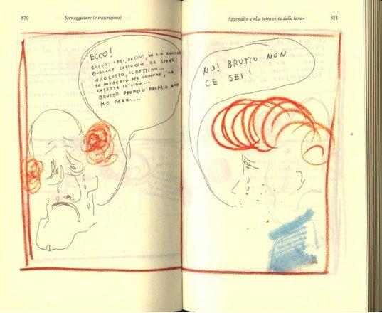 La Terra vista dalla Luna, la sceneggiatura a fumetti firmata da Pasolini
